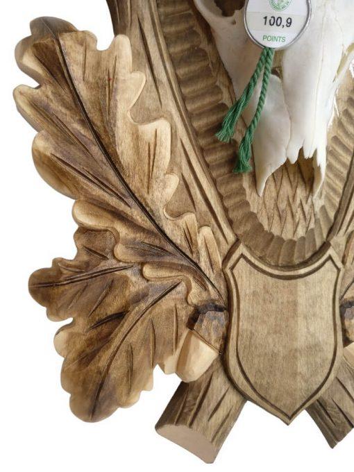 Bukkeplade med håndlavet egeløv
