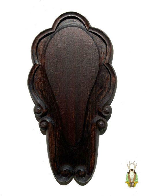 Klassisk sort opsatsplade med symmetriske buer