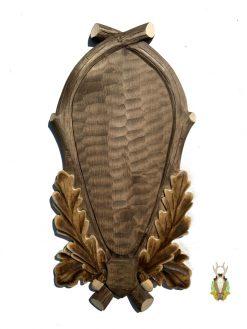 Eksklusivemonteringsplade til kronhjort med egeløv