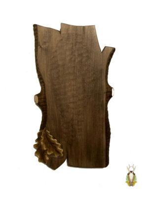 Trofæplade Sikahjort i skandinavisk stil
