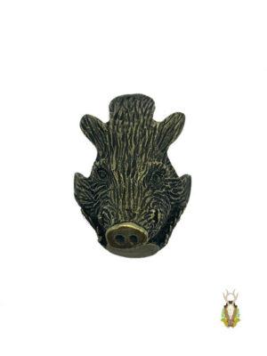 Vildsvinehoved i Bronze til montering af vildsvinetænder