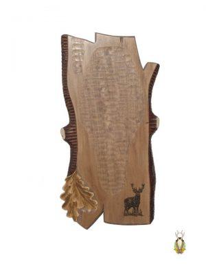 Hjorteplade til kronhjort i skandinavisk stil med lasergraveret motiv