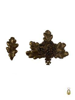 Egeløv Bronze med vildsvinemotiv Stor