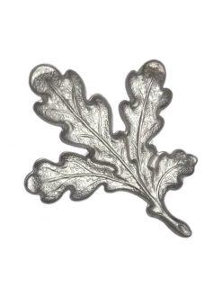 Billige sølvfarvet egeløv